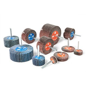 cloth abrasive flap wheels with spindle - CTA Calflex