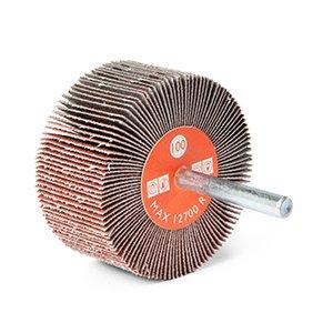Ruote lamellari con gambo in tela abrasiva al corindone - CTA Calflex