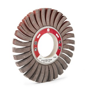 ABRASIVE SPACED FLAP WHEELS WITH HOLE - CTA Calflex